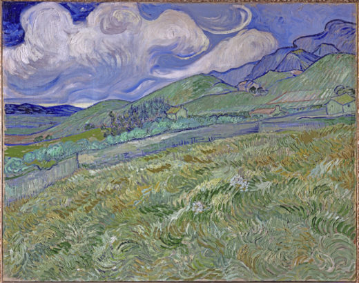 "Vincent van Gogh ""Berglandschaft hinter dem Hospital Saint-Paul"" (Kornfeld 70,5 x 88,5 cm 1"