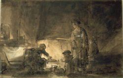 """Rembrandt """"Die-Küche"""" 19.5 x 29.8 cm"""