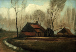 "Vincent van Gogh ""Gehoeft nach dem Regen"" 28,5 x 39,5 cm"