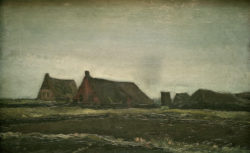 "Vincent van Gogh ""Plaggenhuetten"" 35 x 55,5 cm"