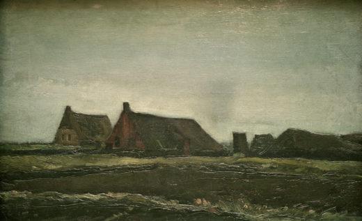 "Vincent van Gogh ""Plaggenhuetten"" 35 x 55,5 cm 1"
