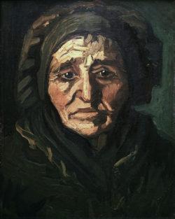 "Vincent van Gogh ""Baeuerin: Alte Frau mit dunkler Haube"", 37,5 x 28 cm"