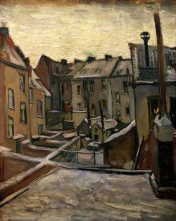 """Vincent van Gogh """"Hinterhoefe in Antwerpen"""" 44 x 33,5 cm"""