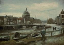 """Vincent van Gogh """"De Singel in Amsterdam"""" 19 x 25,5 cm"""