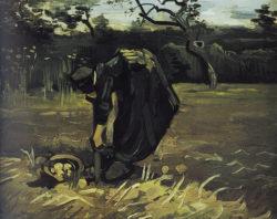 "Vincent van Gogh ""Kartoffelgrabende Baeuerin"" 31,5 x 38 cm"