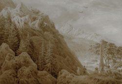 """Caspar David Friedrich """"Der Herbst""""  27 x 19 cm"""