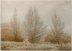 "Caspar David Friedrich ""Der Frühling""  27 x 19 cm"