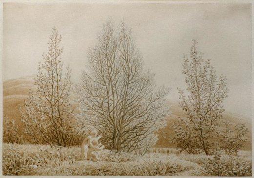 "Caspar David Friedrich ""Der Frühling""  27 x 19 cm 1"