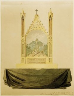 "Caspar David Friedrich ""Kreuz vor Regenbogem""  21 x 27 cm"