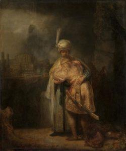 """Rembrandt """"David-nimmt-Abschied-von-Jonathan"""" 73 x 61.5 cm"""