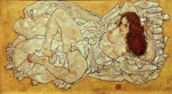 """Egon Schiele """"Liegende Frau"""" 171 x 96 cm"""