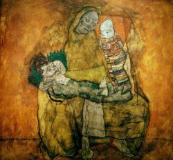 """Egon Schiele """"Mutter mit zwei Kindern"""" 160 x 149 cm"""