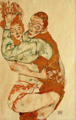 """Egon Schiele """"Liebesakt"""" 50 x 32 cm"""