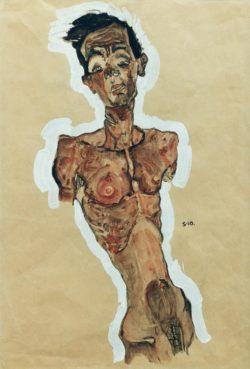"Egon Schiele ""Selbstakt"" 31 x 45 cm"