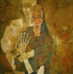 """Egon Schiele """"Tod und Mann"""" 80 x 80 cm"""