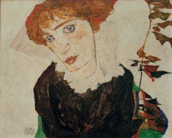 """Egon Schiele """"Bildnis Wally"""" 40 x 33 cm"""