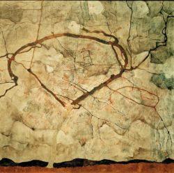 """Egon Schiele """"Herbstbaum in bewegter Luft"""" 81 x 80 cm"""