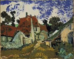 "Vincent van Gogh ""Dorfstraße in Auvers"". 73 x 92 cm"