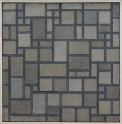 """Piet Mondrian """"Komposition mit Gitterwerk"""" 49 x 49 cm"""