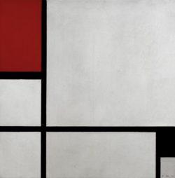 "Piet Mondrian ""Composition Red and Black"" 52 x 52 cm"