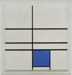 """Piet Mondrian """"Komposition mit Blau"""" 72 x 72 cm"""