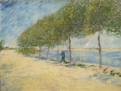 "Vincent van Gogh ""Spaziergang am Ufer der Seine bei Asnières"" 49 x 65,5 cm"