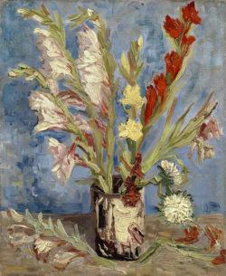 """Vincent van Gogh """"Vase mit Gladiolen und China-Astern"""" 46,5 x 38,5 cm"""