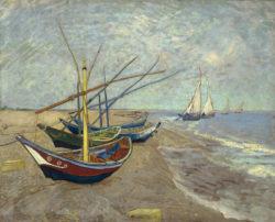 """Vincent van Gogh """"Fischerboote am Strand von Les Saintes-Marie-de-la-Mer"""" 64,5 x 81 cm"""