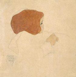 """Egon Schiele """"Kind nach rechts schauend"""" 22 x 22 cm"""