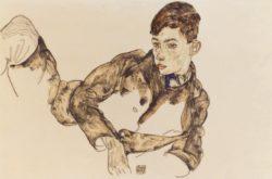 """Egon Schiele """"Liegender Knabe Paul Erdmann"""" 46 x 29 cm"""