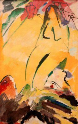 """Wassily Kandinsky """"Akt"""" 99 x 147 cm"""