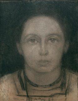 """Piet Mondrian """"Portrait"""" 40 x 31 cm"""