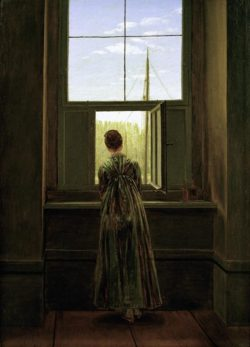 """Caspar David Friedrich """"Frau am Fenster""""  37 x 44 cm"""