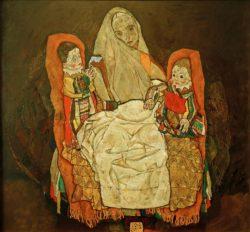 """Egon Schiele """"Mutter und zwei Kinder 3"""" 159 x 150 cm"""
