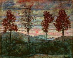 "Egon Schiele ""Vier Bäume"" 141 x 110 cm"