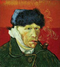 "Vincent van Gogh ""Selbstbildnis mit Pelzmuetze 51 x 45 cm"