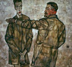 "Egon Schiele ""Doppelbildnis Benesch"" 131 x 121 cm"