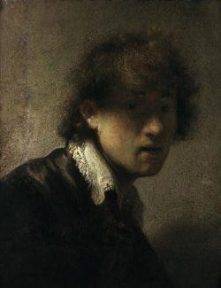 """Rembrandt """"Jugendliches-Rembrand-Selbstbildnis"""" 15.5 x 12.7 cm"""