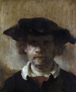 "Rembrandt ""Rembrand-Selbstbildnis"" 25.7 x 21.3 cm"