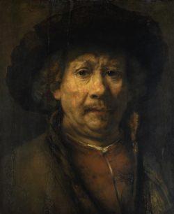 """Rembrandt """"Das-kleine-Rembrand-Selbstbildnis"""" 48.8 x 40.6 cm"""