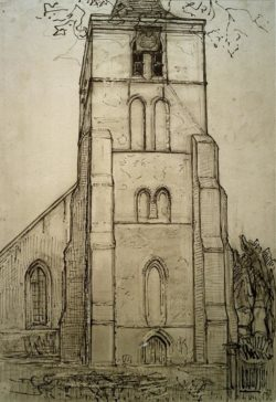 "Piet Mondrian ""Church in Domburg"" 41 x 28 cm"