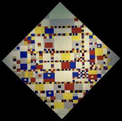 """Piet Mondrian """"Victory Boogie Woogie"""" 127 x 127 cm"""