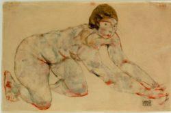 """Egon Schiele """"Kniender weiblicher Akt"""" 47 x 31 cm"""