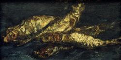 """Vincent van Gogh """"Stilleben mit Buecklingen"""", 21 x 42 cm"""