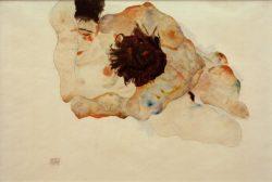 """Egon Schiele """"Umarmung"""" 47 x 32 cm"""