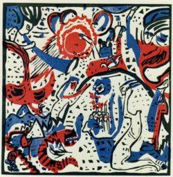 "Wassily Kandinsky ""Große Auferstehung"" 22 x 22 cm"