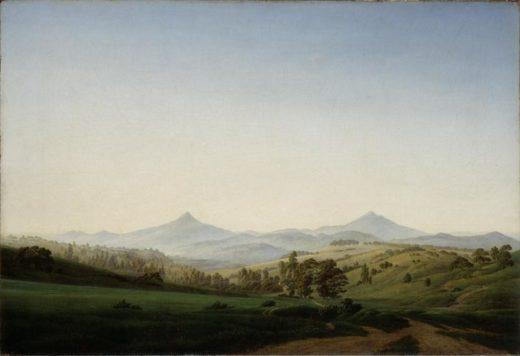 """Caspar David Friedrich """"Böhmische Landschaft mit dem Milleschauer""""  104 x 70 cm 1"""