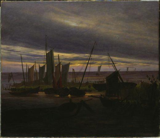 """Caspar David Friedrich """"Schiffe im Hafen am Abend""""  88 x 76 cm 1"""
