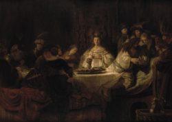 """Rembrandt """"Simsons-Hochzeit"""" 126.5 x 175.5 cm"""