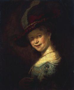 """Rembrandt """"Saskia-van-Uylenburgh-als-Mädchen"""" 52.5 x 44.5 cm"""